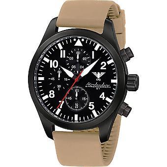 KHS Herrenuhr Airleader black steel chronograph KHS. AIRBSC. ST