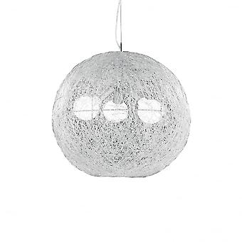 Ideal Lux Emis Quirky Off White Spider Web Globe Ceiling Pendant 3 Light