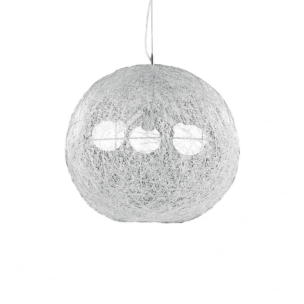 Ideal Lux Emis Quirky Off blanc Spider Web Globe Ceiling pendentif 3 lumière