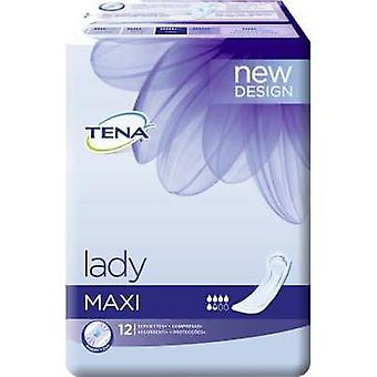 Tena Lady Maxi Compresses 12 uds (Hygiene and health , Intimate hygiene , Compressors)
