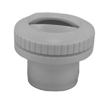 Custom Molded 25554-001-000 1.5Mip Slotted Opening Self Eyeball Fitting - Grey