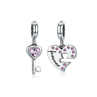 Sterling silver pendant charm Key to my heart SCC638