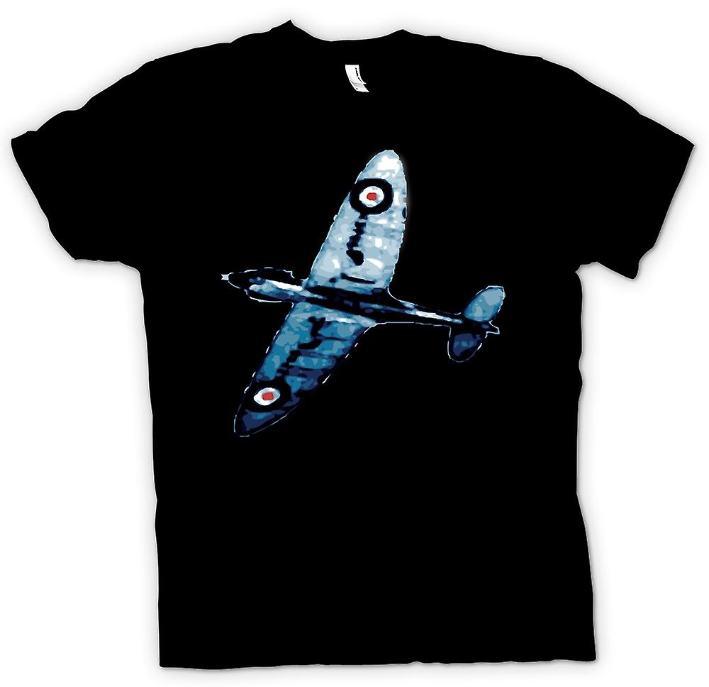 Mens T-shirt-Spitfire Blau Pop-Art - Zitat