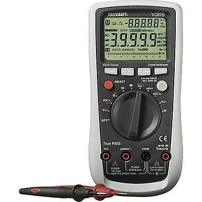 Ordinateur de poche VOLTCRAFT VC870 multimètre numérique calibré à  normes ISO CAT III 1000 V, CAT IV 600 V affichage (comtes)  40000