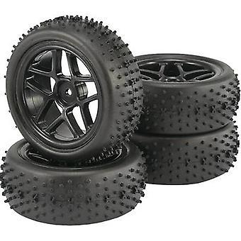 Reely 1:10 Buggy Wheels Spike 5-double spoke Black 4 pc(s)