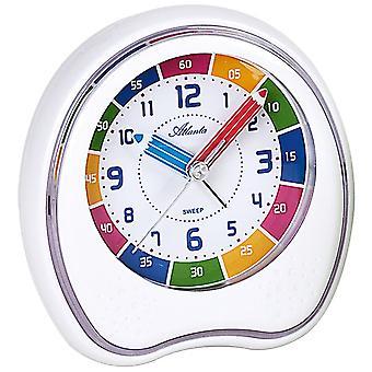 Atlanta white 1953/0 alarm clock kids alarm clock silent no tick learning clock for children