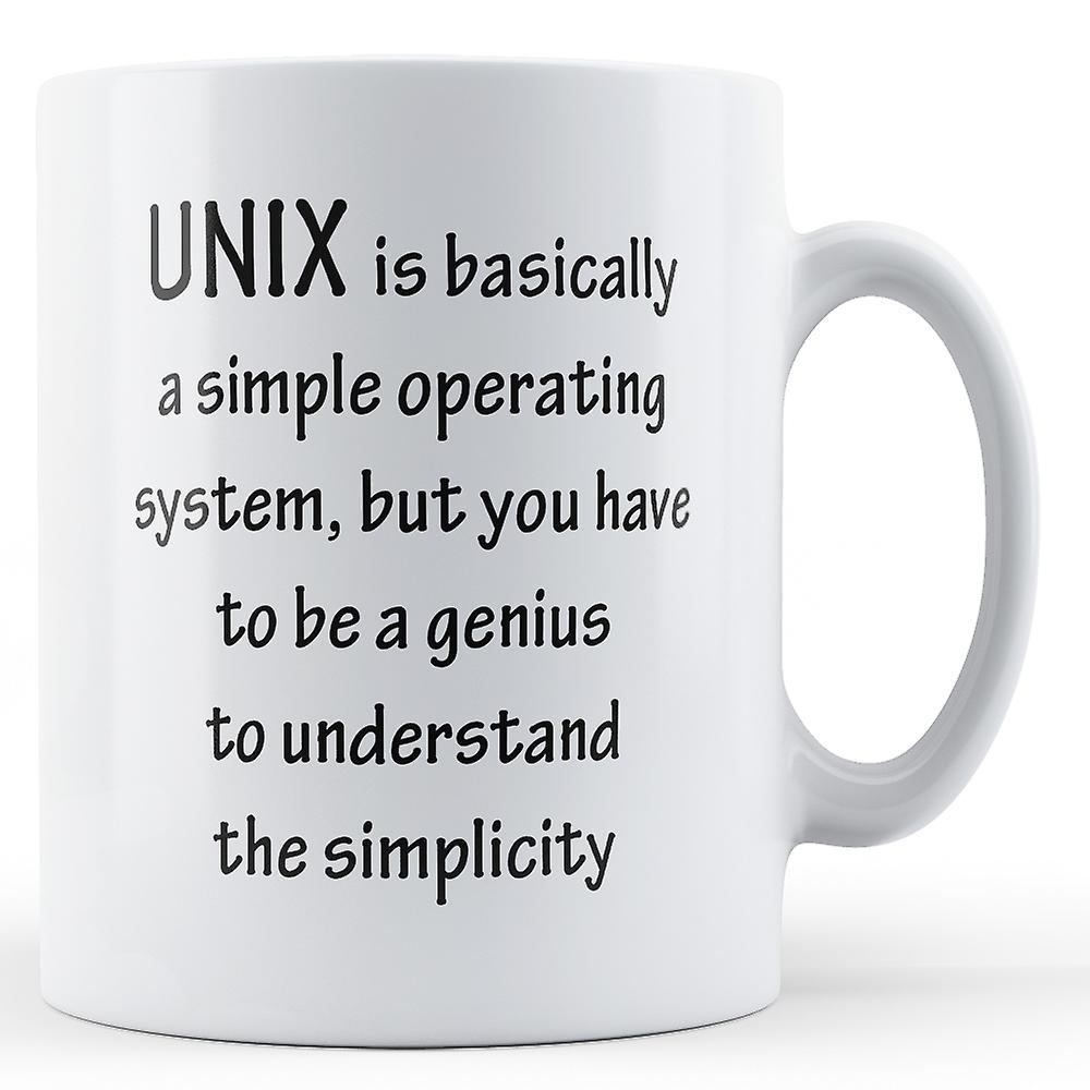 Système Imprimé De D'exploitation Simple UnixMug 9WD2EHI