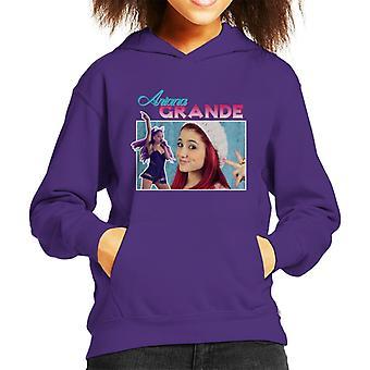 Ariana Grande Tribute Montage Kid's Hooded Sweatshirt