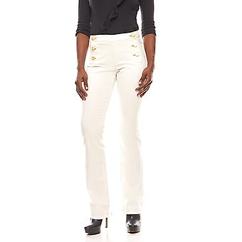B.C.. best connections trendy ladies of Casual flared jeans cream