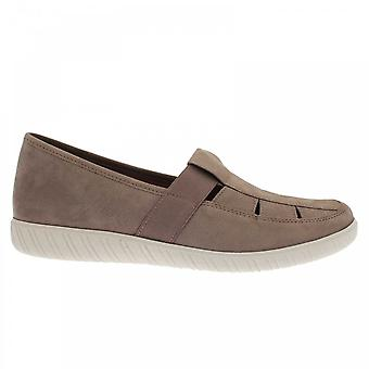 Gabor Arisaig Flat Shoe With Elasticated Strap