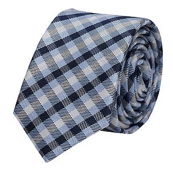 Niebieski czarny szary Fabio Farini kratę krawata, krawat, krawaty, krawat, 8 cm