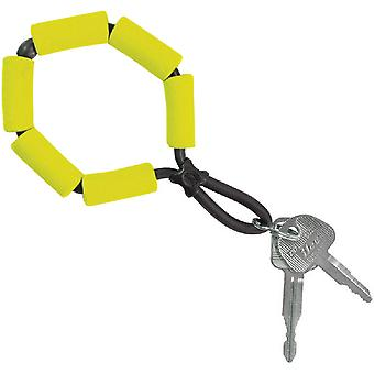 Chums Floating Foam Stretch TPU Construction Keychain - Yellow
