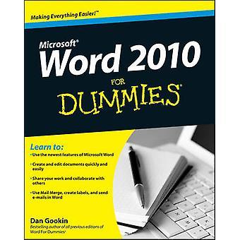 Word 2010 para Dummies por Dan Gookin - libro 9780470487723
