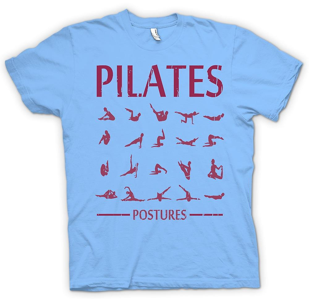Mens T-shirt - Postures Pilates - Core Fitness