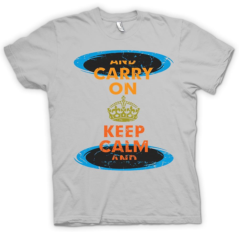 Mens T-shirt - Keep Calm And Carry On - Funny