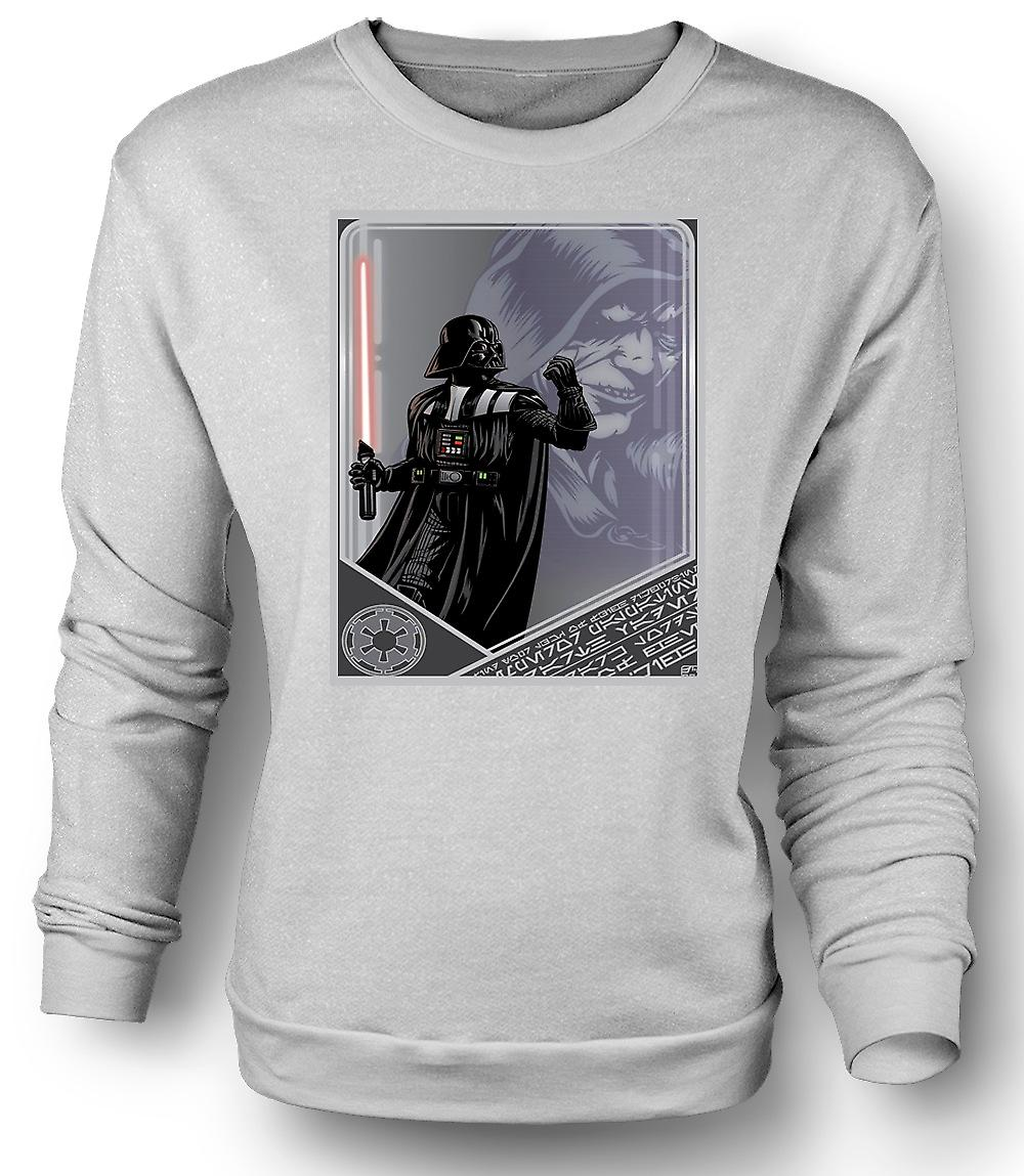 Hombres sudadera Darth Vader y Palpatine - japonés