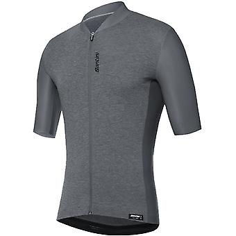 Santini Grey 365 Classe Short Sleeved Cycling Jersey