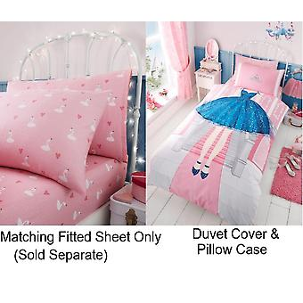 Princess Selfie Girls Kids Single Duvet Quilt Cover Children Bedding Set