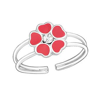 Blume - 925 Sterling Silber Ringe - W1068X