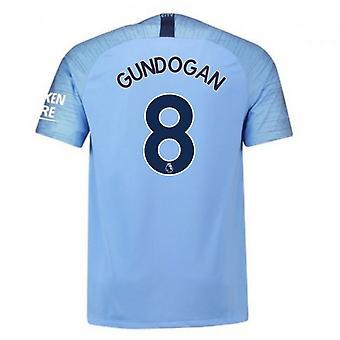 2018-2019 man City Home Nike voetbalshirt (Gundogan 8)