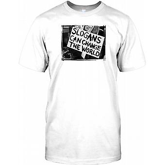 Slogans Can Change The World - Cool Design Mens T Shirt
