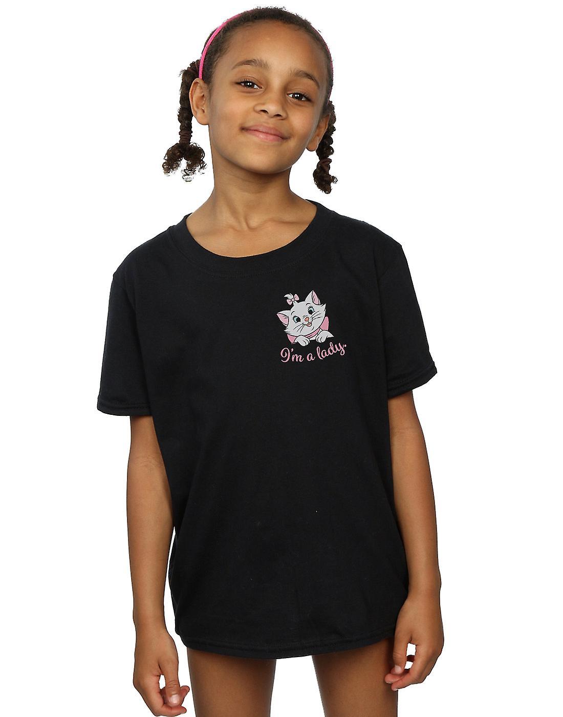 Disney Girls Aristocats Marie I'm A Lady Breast Print T-Shirt