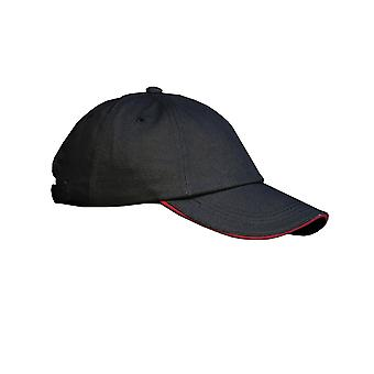 Result Unisex Low Profile Heavy Brushed Cotton Baseball Cap With Sandwich Peak (Pack of 2)