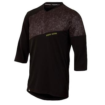 Pearl Izumi Black-Lime Scrib Camo Launch MTB Jersey ¾ Sleeved