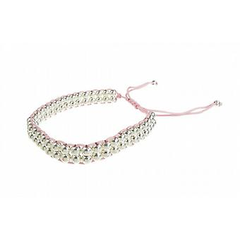 Cavendish French Double Strand Sterling Silver Bead Friendship Bracelet