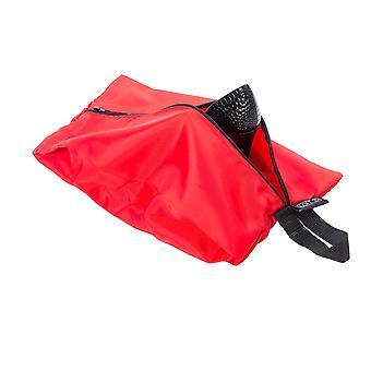 Paquete impermeable de 4 viajes equipaje organizador cremallera bolsas rojas (2 x estándar 2 x grande)