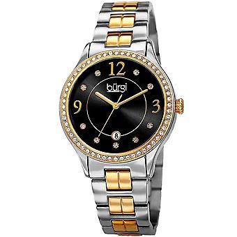 Burgi Women's Quartz Swarovski Accented Bracelet Watch BUR180TTG