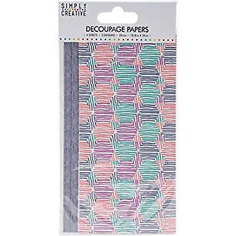 Simply Creative FSC Decoupage Paper - Pastel Hexagons (SCDEC033)