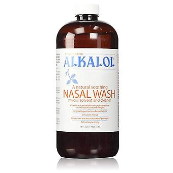 Alkalol nasal wash, mucus solvent and cleaner liquid, 16 oz
