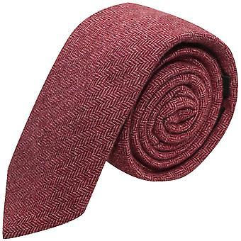 Kastanjebruine Herringbone Tie