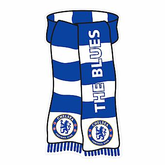 Chelsea FC Official Scarf Shaped Show Your Colours Metal Sign