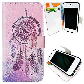 IPhone 5/5s/SE Case/portemonnee leer-Dream Catcher