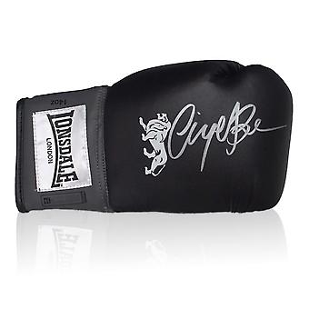 Nigel Benn Signed Black Boxing Glove