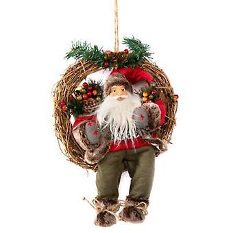Wellindal Corona Santa Claus Wicker Sitting Fabric