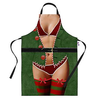 Novelty Sexy Elf Funny Printed Apron Cooking Gifts For Him