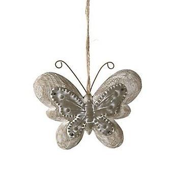Butterfly hängare zink och trä