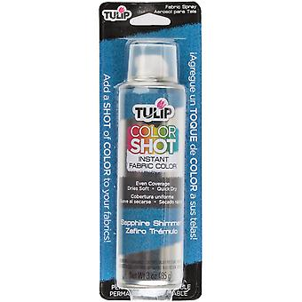 Tulip Color Shot Instant Fabric Color Spray 3oz-Sapphire Shimmer CLRSH-34973
