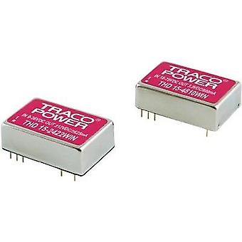 DC/DC converter (print) TracoPower THN Series 48 Vdc 5 Vdc, -5 Vdc 1.5 A 15 W No. of outputs: 2 x