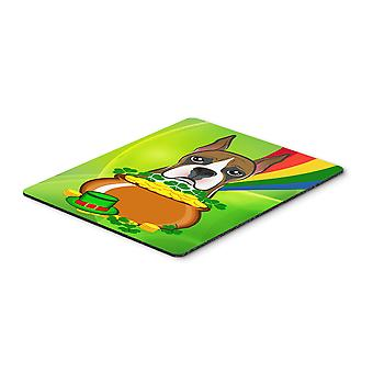 Boxer St. Patrick's Day Mouse Pad, Hot Pad or Trivet BB1967MP