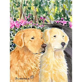 Golden Retriever Flag Canvas House Size