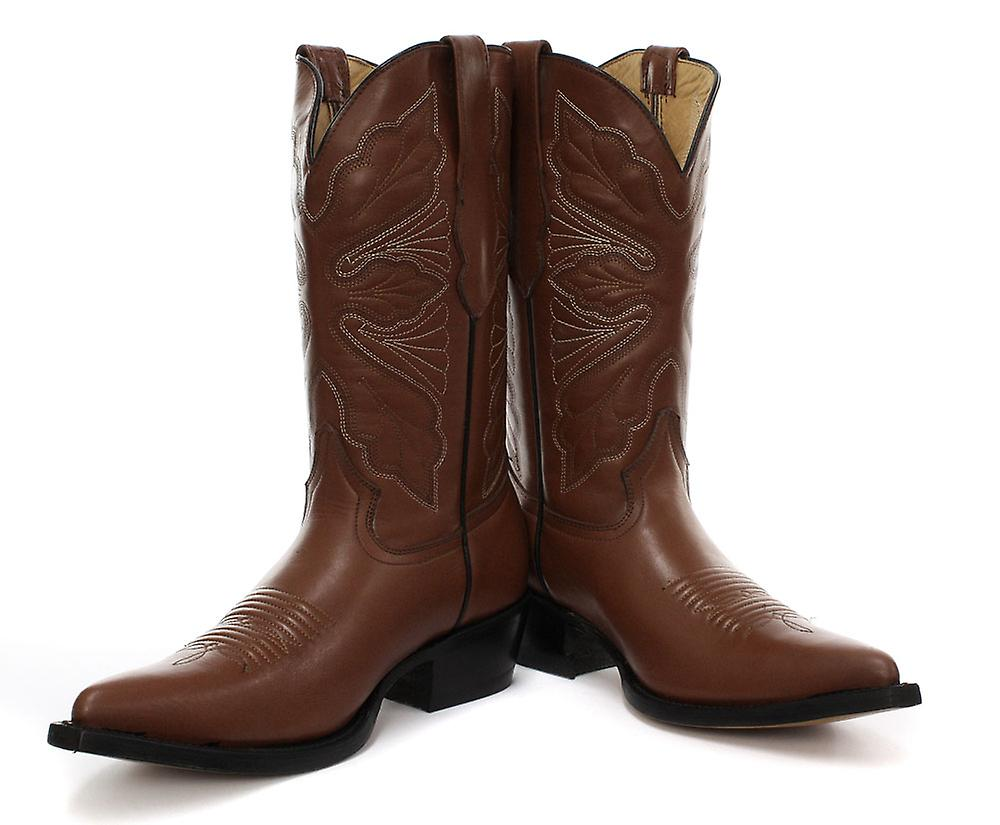 Grinders Dallas Tan Womens Cowboy Boots