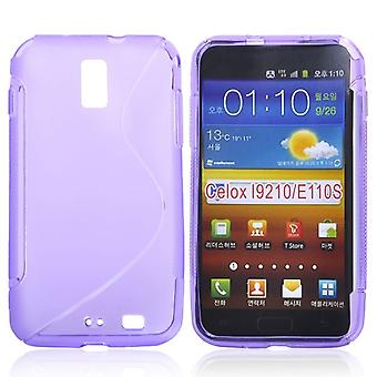 Cover with rubber TPU case for Samsung Galaxy S2 LTE i9210 (purple)