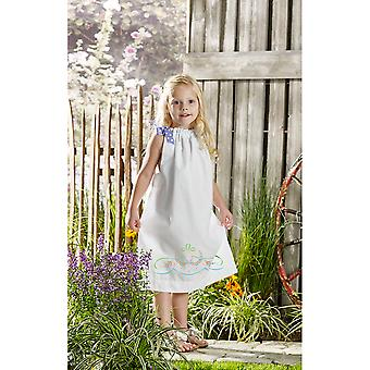 Daisy Bow Swag Pillowcase Dress Stamped For Embroidery Kit-Size 3-8 47674