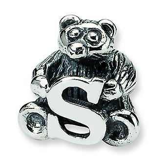 Sterling Silver Reflections Kids Letter S Bead Charm