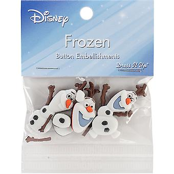 Dress It Up Licensed Embellishments-Disney Frozen DIULBTN-7750