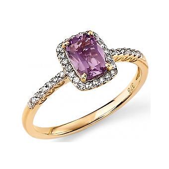9Ct White Gold Ring Diamond 0.15 Carat